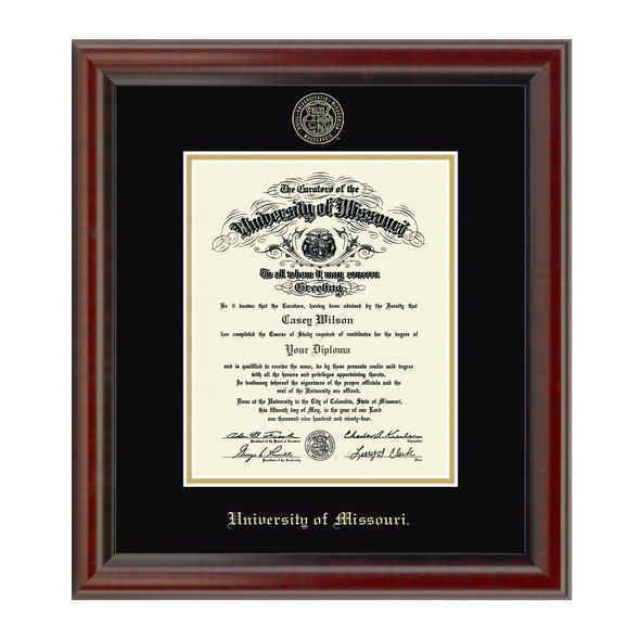 Official University Of Missouri Phd Diploma Frame The