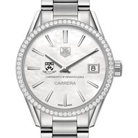 Penn Women's TAG Heuer Steel Carrera with MOP Dial & Diamond Bezel