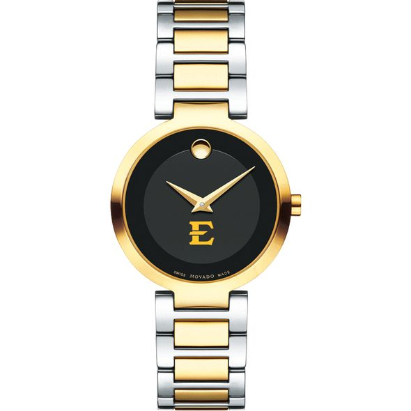 East Tennessee State University Women's Movado Two-Tone Modern Classic Museum with Bracelet - Image 2