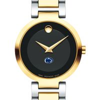 Penn State University Women's Movado Two-Tone Modern Classic Museum with Bracelet