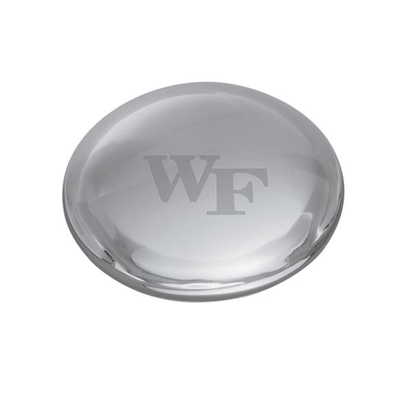 Wake Forest Glass Dome Paperweight by Simon Pearce