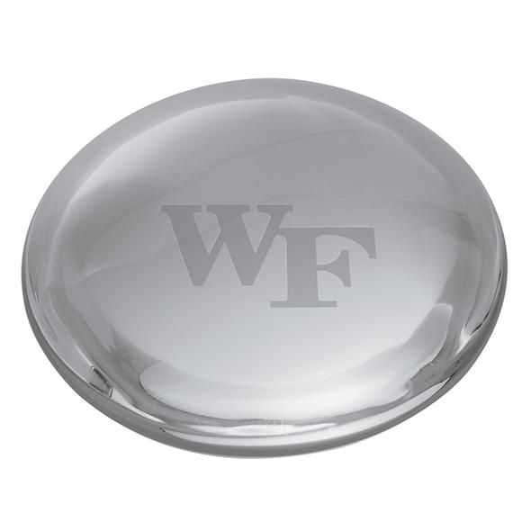 Wake Forest Glass Dome Paperweight by Simon Pearce - Image 2