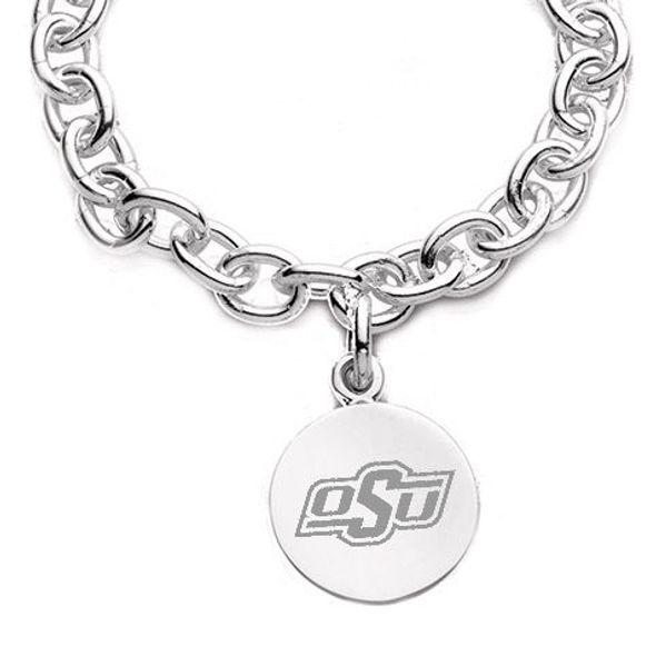Oklahoma State University Sterling Silver Charm Bracelet - Image 2