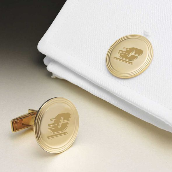 Central Michigan 14K Gold Cufflinks - Image 1