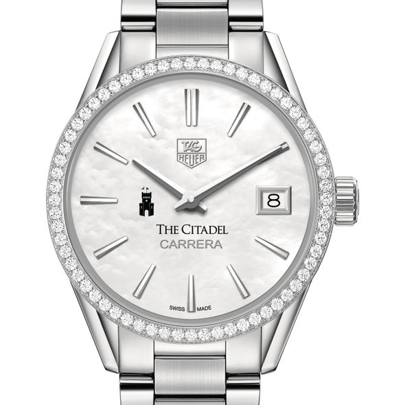 Citadel Women's TAG Heuer Steel Carrera with MOP Dial & Diamond Bezel