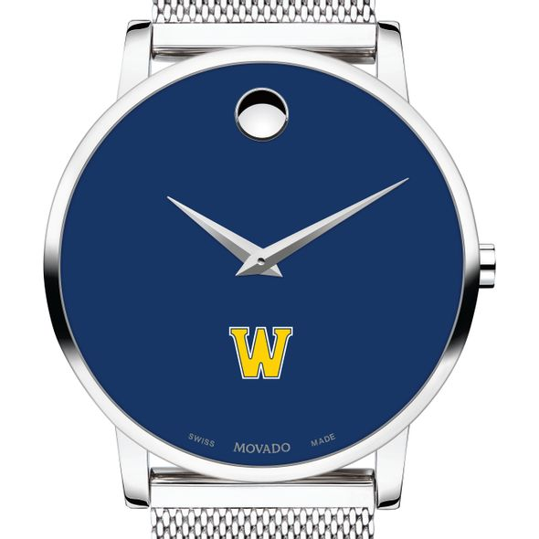 Williams College Men's Movado Museum with Blue Dial & Mesh Bracelet