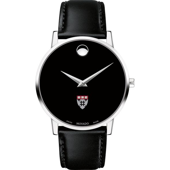 Harvard Business School Men's Movado Museum with Leather Strap - Image 2
