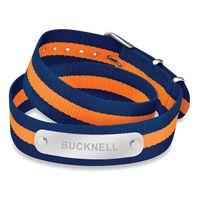 Bucknell University Double Wrap NATO ID Bracelet