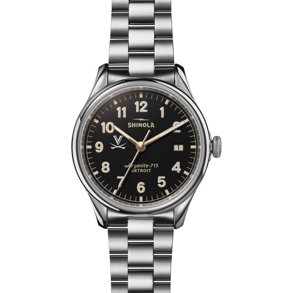 UVA Shinola Watch, The Vinton 38mm Black Dial - Image 2
