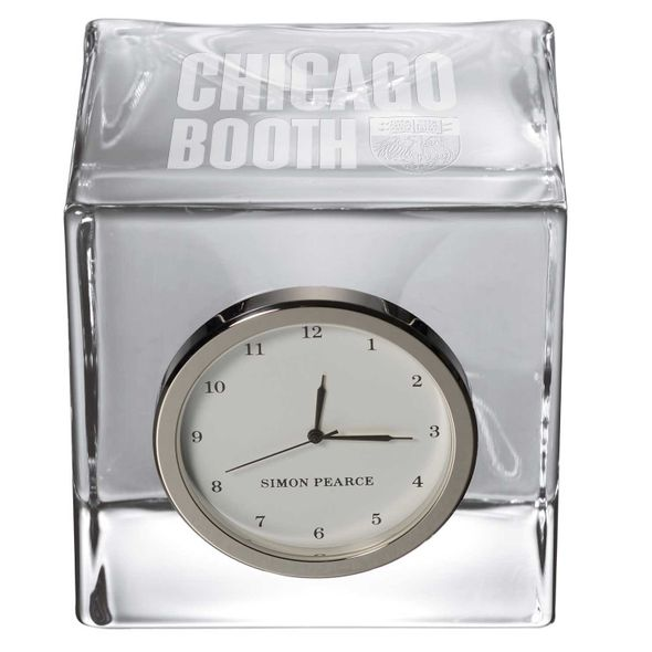 Chicago Booth Glass Desk Clock by Simon Pearce - Image 2