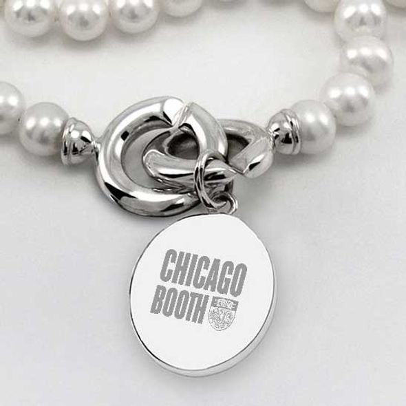 Chicago Booth Pearl Necklace with Sterling Silver Charm - Image 2