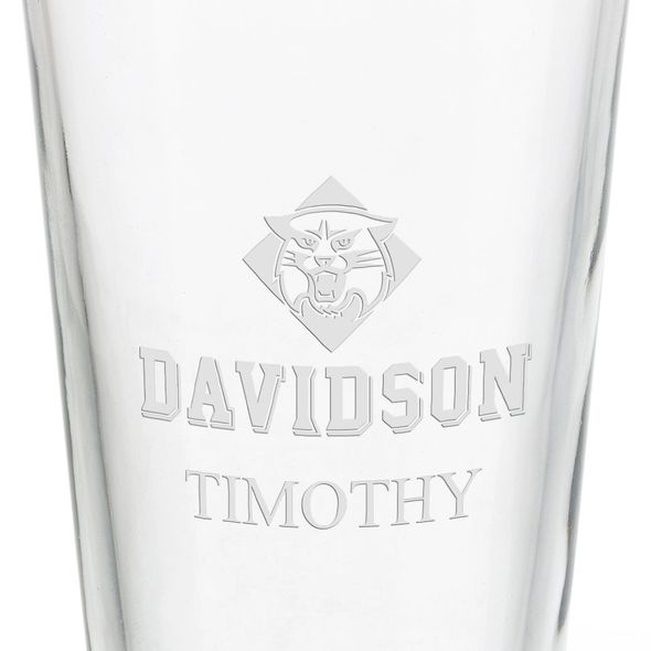 Davidson College 16 oz Pint Glass - Image 3