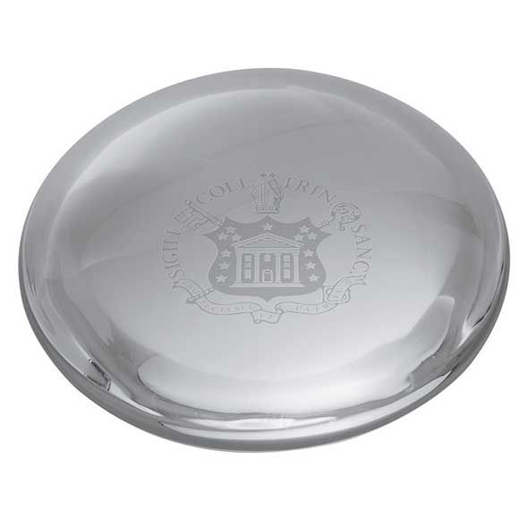 Trinity College Glass Dome Paperweight by Simon Pearce - Image 2