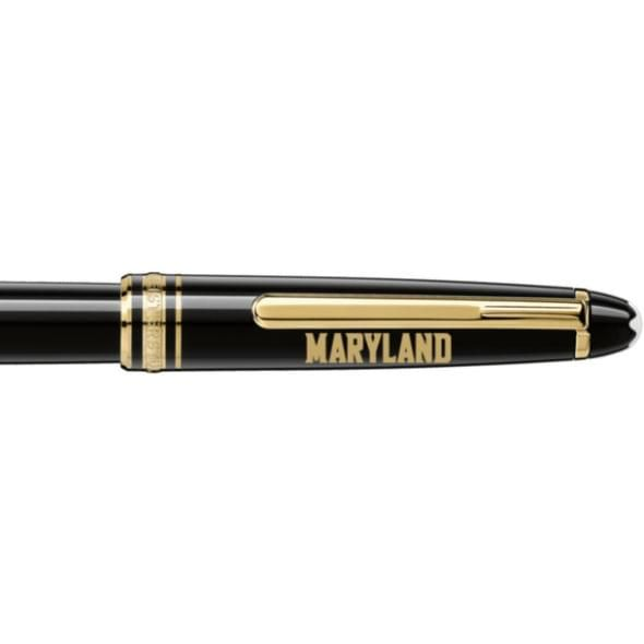 University of Maryland Montblanc Meisterstück Classique Rollerball Pen in Gold - Image 2