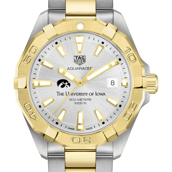 University of Iowa Men's TAG Heuer Two-Tone Aquaracer - Image 1