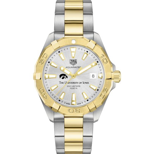 University of Iowa Men's TAG Heuer Two-Tone Aquaracer - Image 2