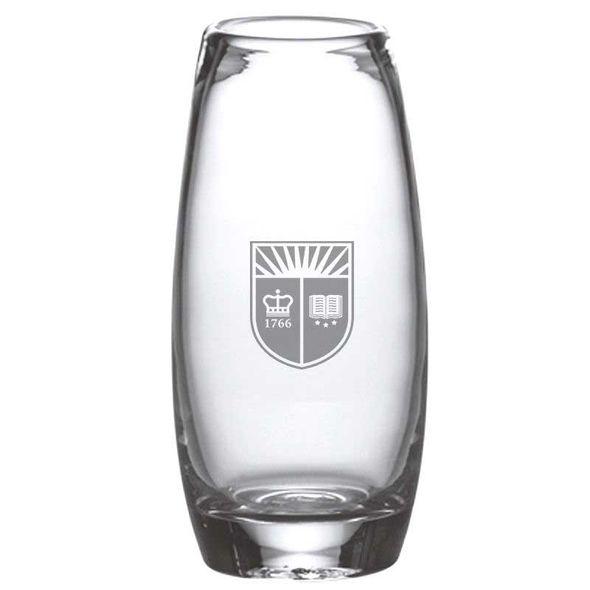 Rutgers University Glass Addison Vase by Simon Pearce