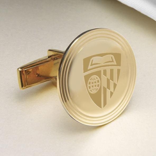Johns Hopkins 14K Gold Cufflinks - Image 2