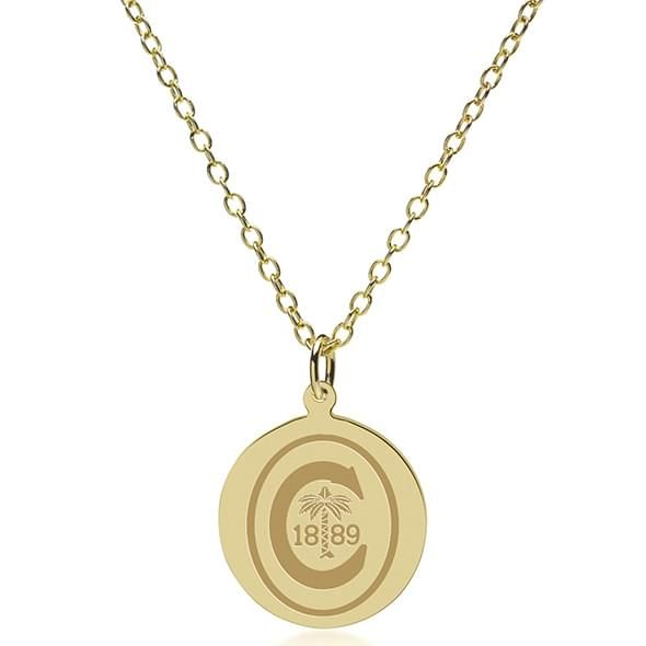 Clemson 14K Gold Pendant & Chain - Image 2