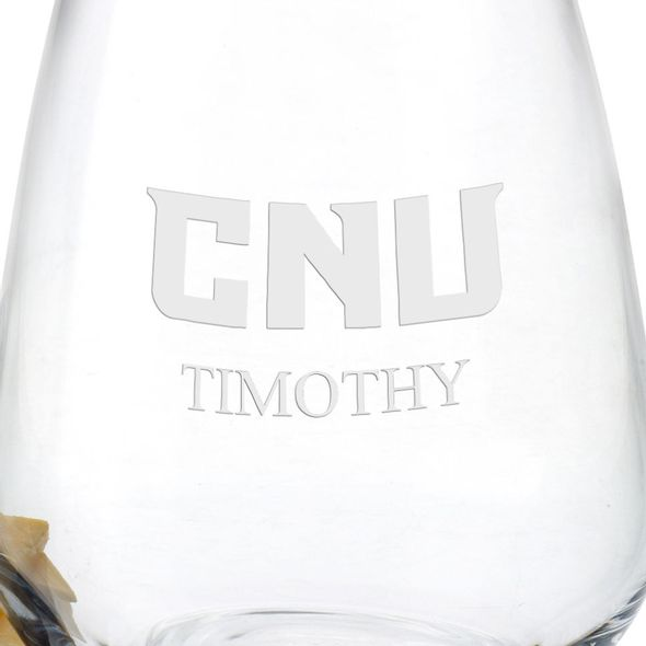 Christopher Newport University Stemless Wine Glasses - Set of 4 - Image 3