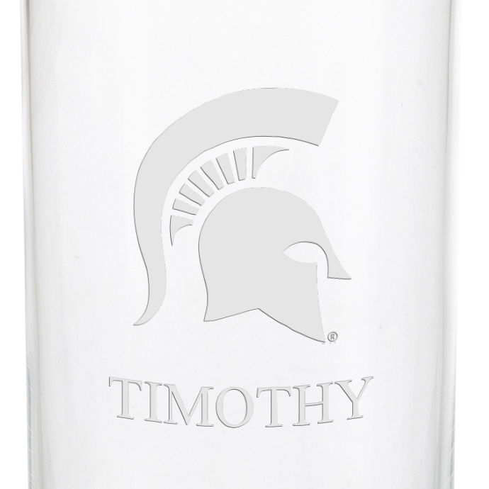 Michigan State University Iced Beverage Glasses - Set of 4 - Image 3