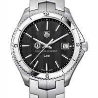 USNA TAG Heuer Men's Link Watch with Black Dial