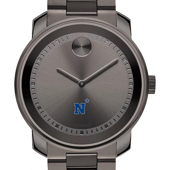 Naval Academy Men's Movado BOLD Gunmetal Grey
