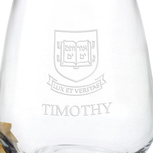 Yale University Stemless Wine Glasses - Set of 2 - Image 3