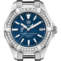 Fordham Women's TAG Heuer 35mm Steel Aquaracer with Blue Dial