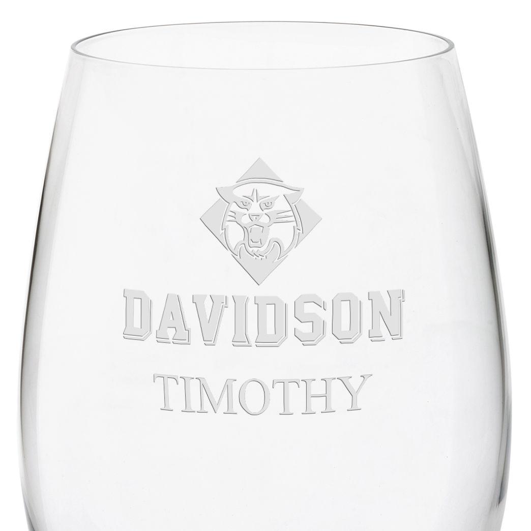 Davidson College Red Wine Glasses - Set of 2 - Image 3