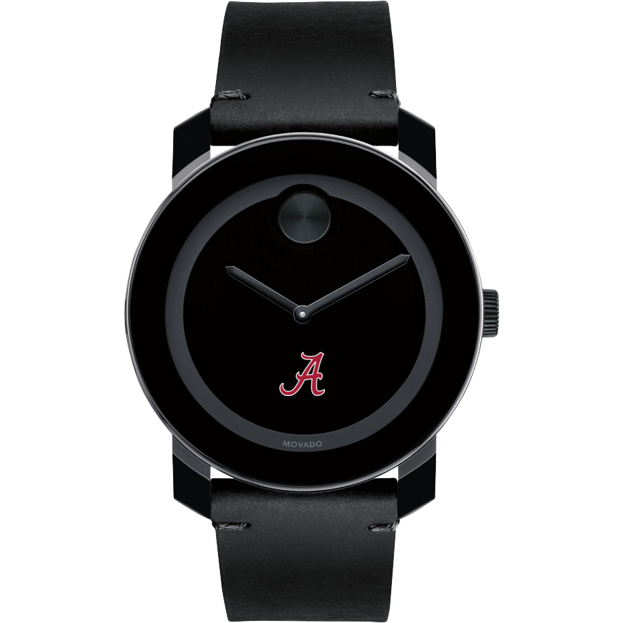 Alabama Men's Movado BOLD with Leather Strap - Image 2