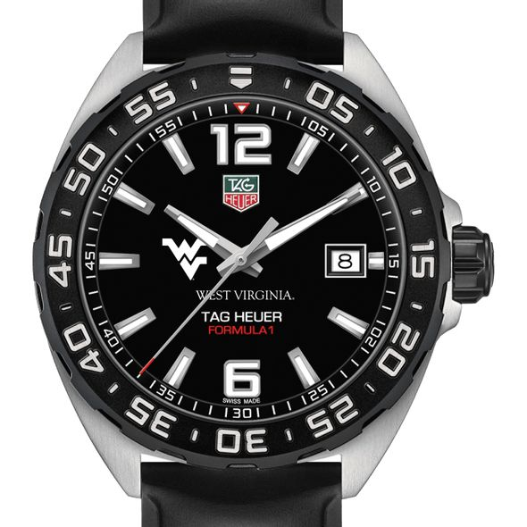 West Virginia University Men's TAG Heuer Formula 1 with Black Dial