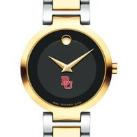 Boston University Women's Movado Two-Tone Modern Classic Museum with Bracelet