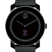 University of Illinois Men's Movado BOLD with Leather Strap
