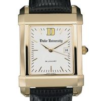 Duke Men's Gold Quad Watch with Leather Strap