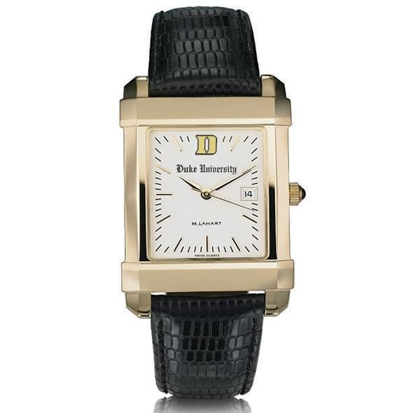 Duke Men's Gold Quad Watch with Leather Strap - Image 2
