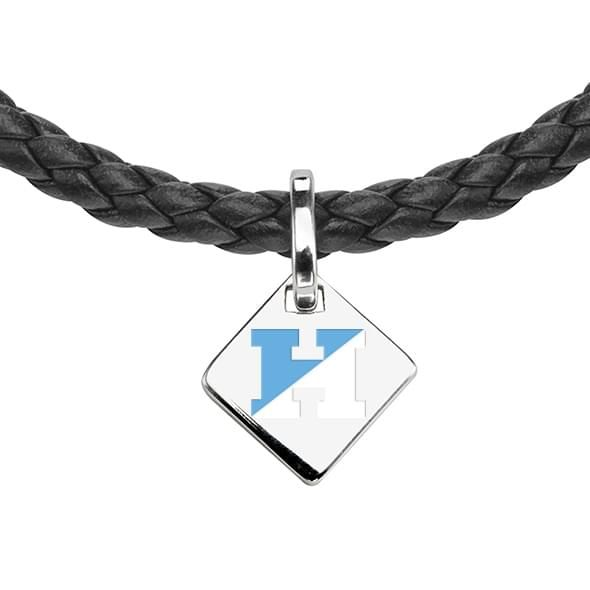Johns Hopkins Leather Necklace with Sterling Silver Tag - Image 2
