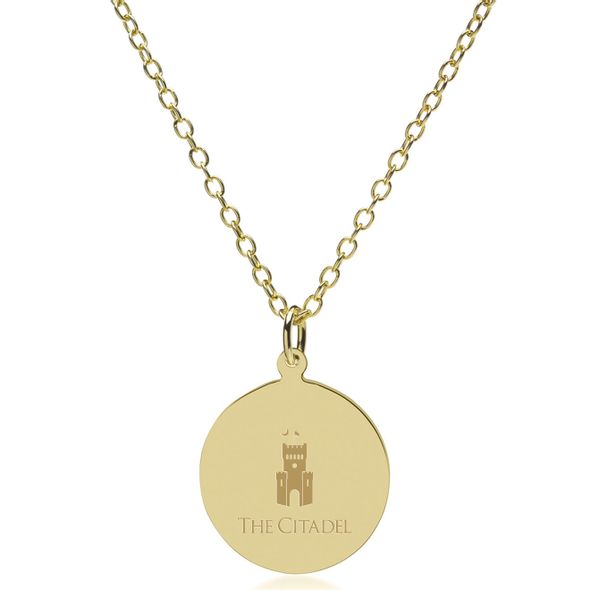 Citadel 14K Gold Pendant & Chain - Image 2