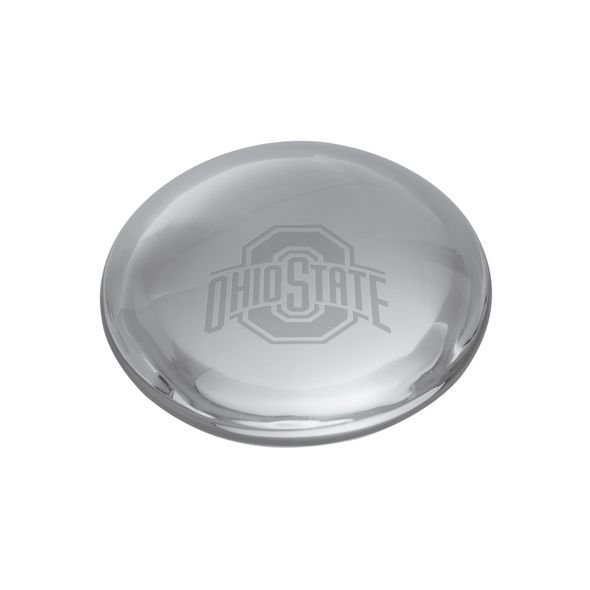 Ohio State Glass Dome Paperweight by Simon Pearce - Image 1