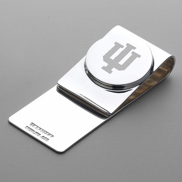 Indiana University Sterling Silver Money Clip