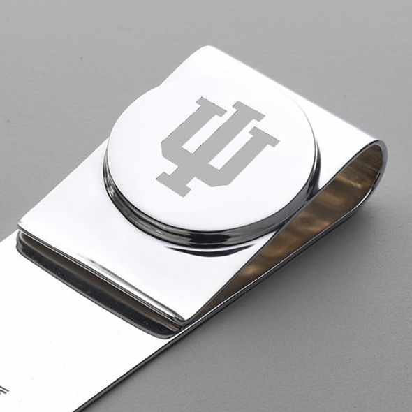 Indiana University Sterling Silver Money Clip - Image 2