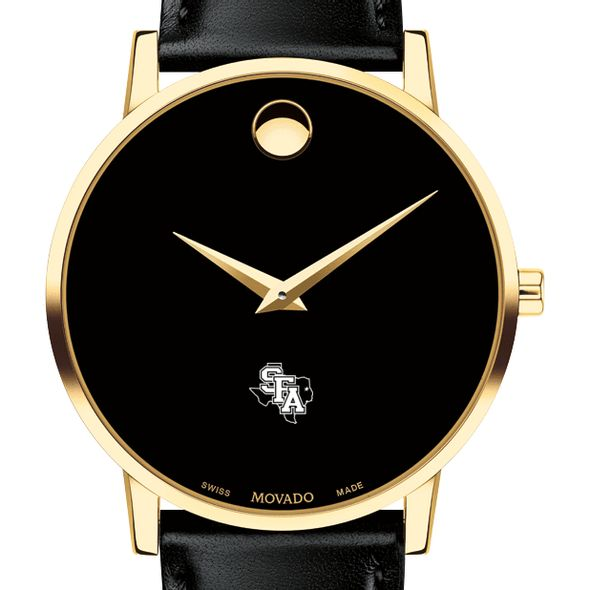 SFASU Men's Movado Gold Museum Classic Leather