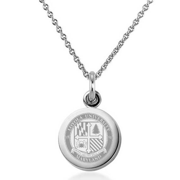 Loyola Necklace with Charm in Sterling Silver - Image 1