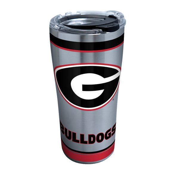 Georgia 20 oz. Stainless Steel Tervis Tumblers with Hammer Lids - Set of 2 - Image 1