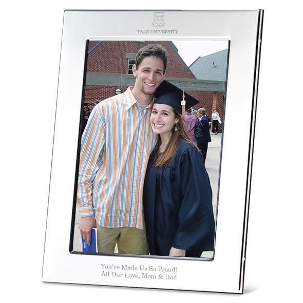 Yale Polished Pewter 5x7 Picture Frame - Image 1