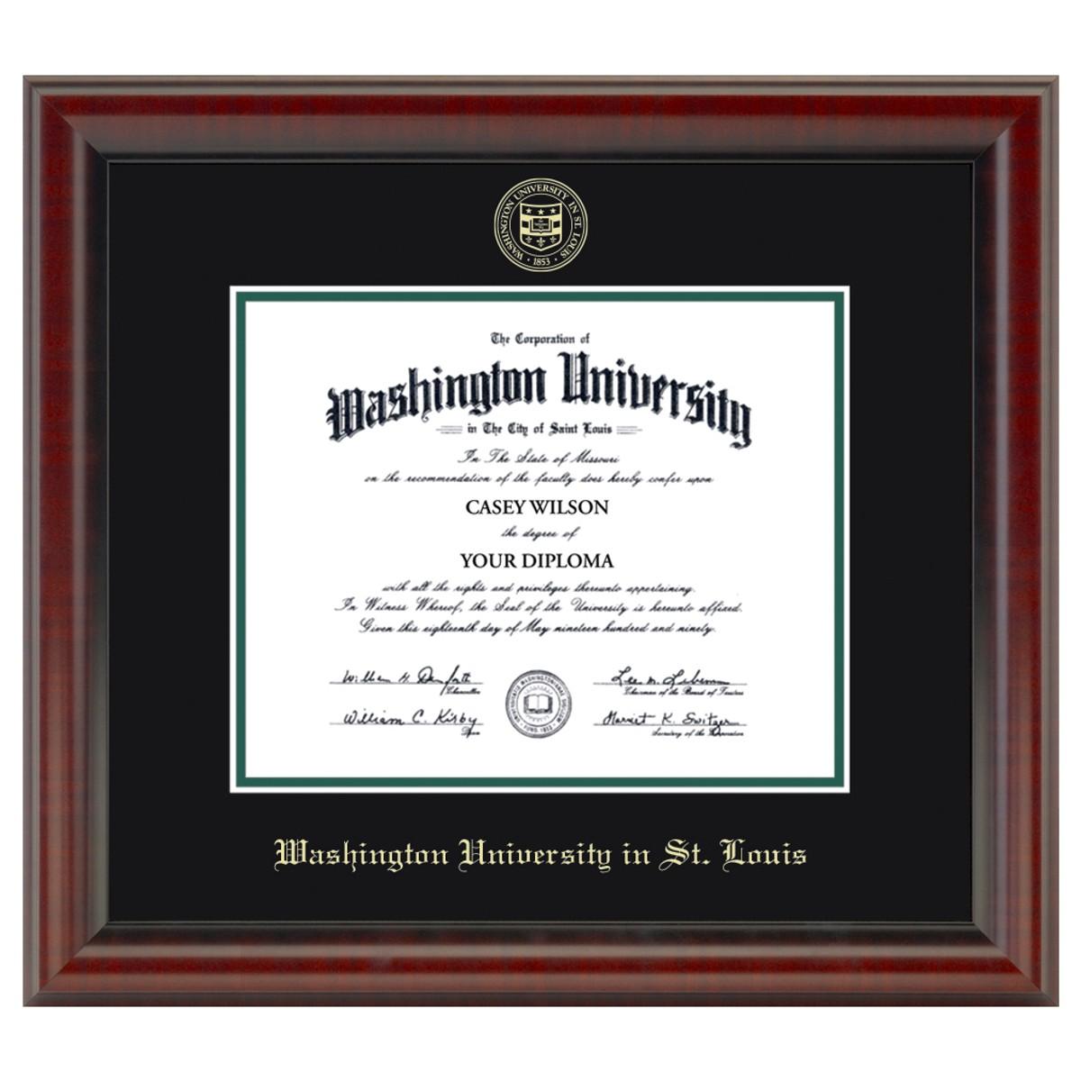 Official Washu Diploma Frame The Fidelitas Graduation