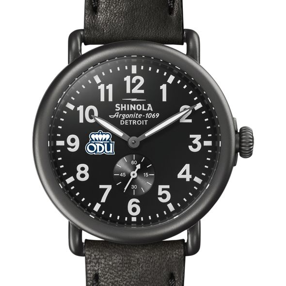 Old Dominion Shinola Watch, The Runwell 41mm Black Dial