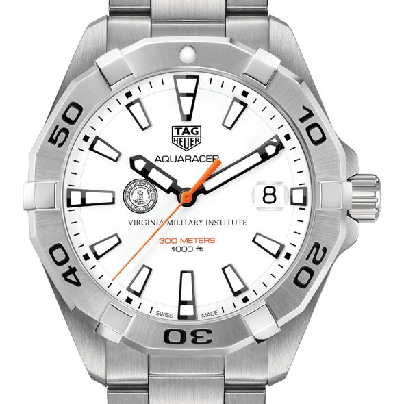 Virginia Military Institute Men's TAG Heuer Steel Aquaracer - Image 1
