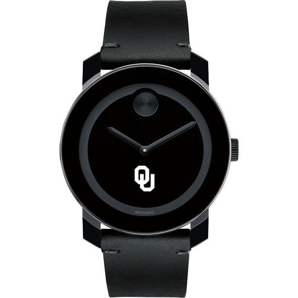 University of Oklahoma Men's Movado BOLD with Leather Strap - Image 2