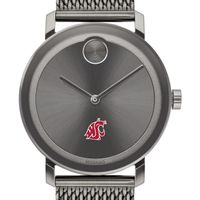 Washington State University Men's Movado BOLD Gunmetal Grey with Mesh Bracelet